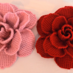 Crochet 3 D Waved Flower