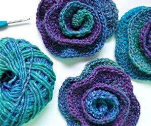 Crochet Beautiful Flower In 5 Minutes