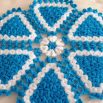Crochet Star Stitch Round Doily
