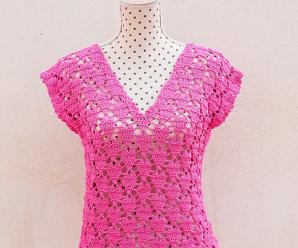 Crochet Heart Stitch Blouse For Women