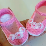 Crochet Baby Girl Shoes In 20 Minutes