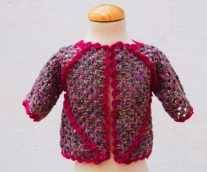 Crochet Fast And Easy Baby Jacket With Two Hexagons