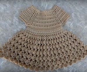 Crochet Baby Dress With Beads