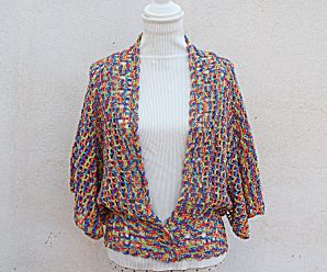 Crochet Fast And Easy Bat Sleeve Jacket