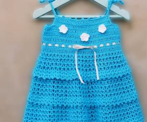 Crochet Baby Girl Dress For Beginners