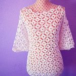Crochet Fashionable Long sleeve Blouse