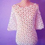 Crochet Fashionable Long sleeve Blouse
