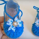 Crochet Baby Girl Sandals From 3 To 6 Months
