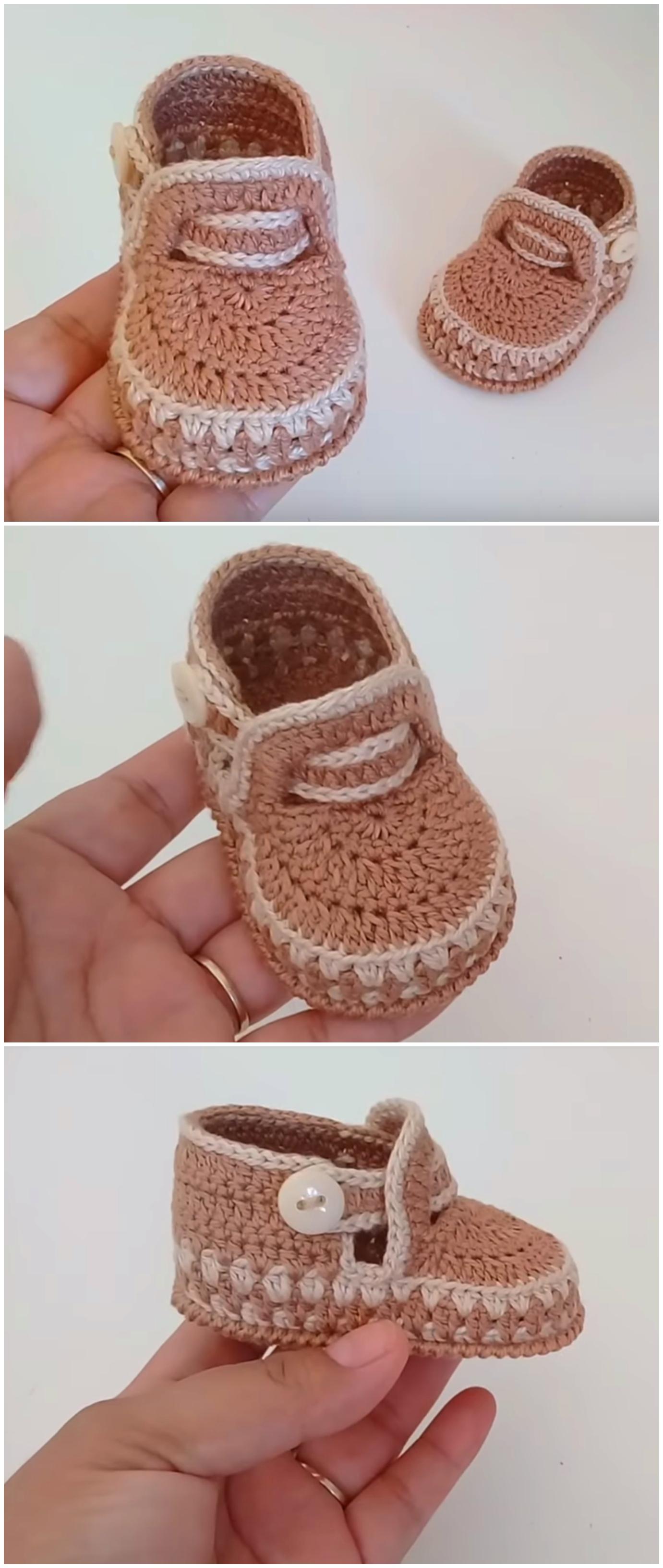 Crochet Lovely Baby Shoes Video Tutorial Crochet Ideas
