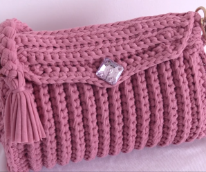 Crochet Easy 3 D Handbag In 30 Minutes