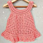 Crochet Baby Girl Dress In 3 Sizes