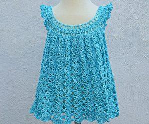 Crochet Fast And Easy Baby Girl Dress For Summer