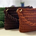 Crochet Clutch Bag With T-shirt Yarn