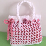 Crochet Honeycomb Stitch 3 D Handbag