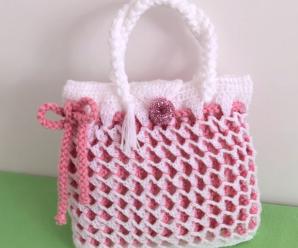 Crochet Honeycomb Stitch 3 D Handbag