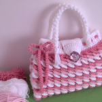 Crochet Colorful 3 D Handbag