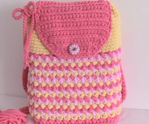 Crochet Reversible 3 D Backpack