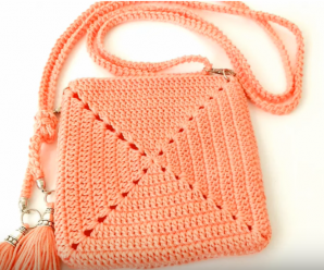 Crochet Bag With Granny Square