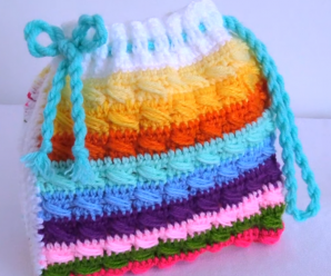 Crochet Double Colored 3D Handbag