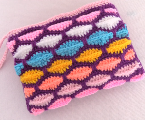 Crochet Mosaic Marshmallow 3D Bag