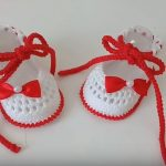Crochet Baby Girl Shoes From 0-3 Months