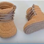 Crochet Baby Combat Boots