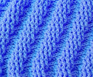 Crochet Diagonal Stitch For Coats And Sweaters