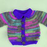Crochet Unisex Baby Jacket