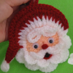 DIY Crochet Santa Claus Applique