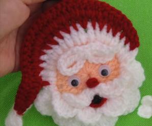 DIY Crochet Santa Claus Applique