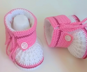 Crochet Ankle Boots For Babies
