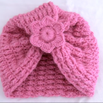 Crochet Beanie Hat With 3 D Flower