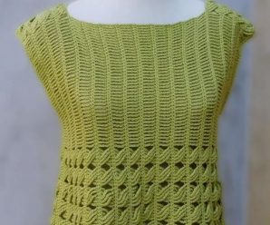 Crochet Short Sleeve Blouse For Women