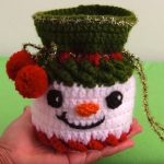Crochet Snowman Mini Bag For Candies