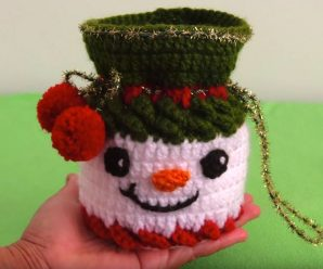 Crochet Snowman Mini Bag For Candies