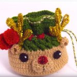 Crochet Mini Gift Bag For Christmas