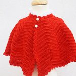 Crochet Baby Poncho For Christmas