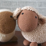 Crochet Lovely Big Sheep Toy