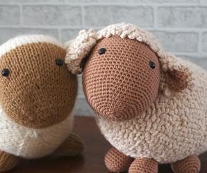 Crochet Lovely Big Sheep Toy