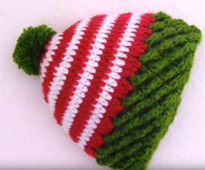 Crochet Braided Hat For Christmas