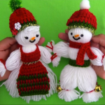 Christmas Gift Idea – Crochet Snowman And Woman