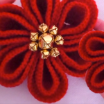 Crochet Christmas Flower With Circles