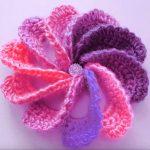 Crochet Lovely Woven Flower