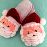 Crochet Lovely Santa Slippers