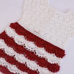 Crochet A Baby Dress In Two Colors