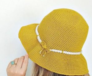 Crochet Sombrero Hat For Women