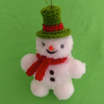 DIY Crochet Easy Snowman In 5 Minutes