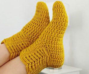 How To Crochet Socks Easily