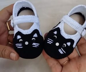 Crochet Cat Shoes For Babies