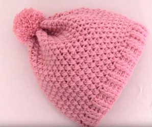 Crochet Cross Stitch Hat For Beginners
